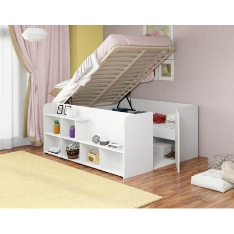 шкаф-кровать двуспальная Twist UP L цвет белый