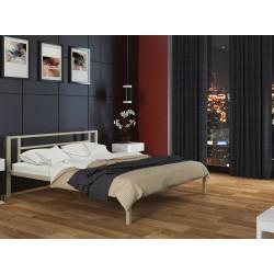 двуспальная металлическая кровать Титан цвет бежевый (слоновая кость)