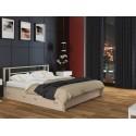 двуспальная металлическая кровать Титан с ящиками