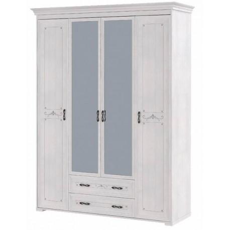 модуль №02 Афродита Шкаф 4-х дверный с ящиками (без карниза)