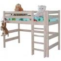 Кровать полувысокая Соня с прямой лестницей вариант №5
