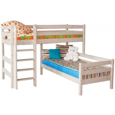 угловая кровать Соня с прямой лестницей вариант №7