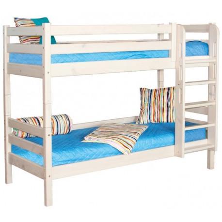 Двухъярусная кровать Соня с прямой лестницей вариант №9