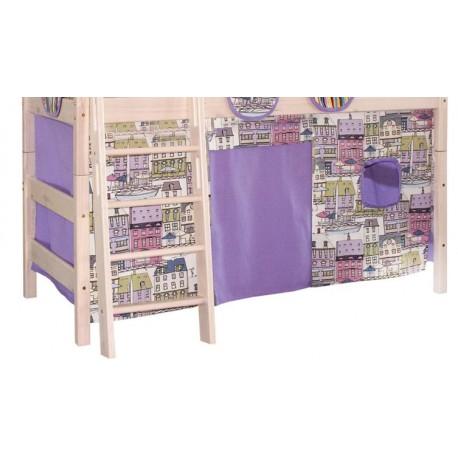 Штора на полувысокую кровать текстиль к серии Соня