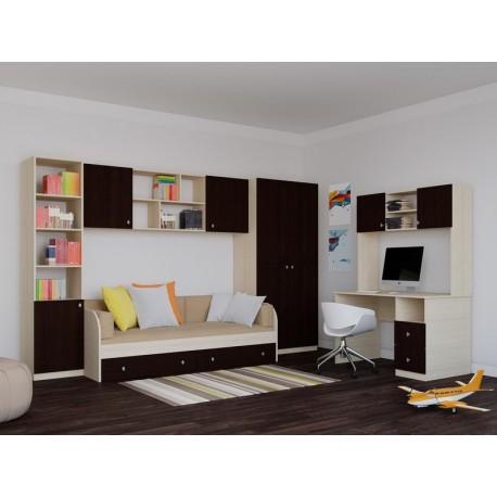детская комната №1 Астра цвет дуб молочный / венге