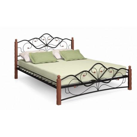 Кровать-140 Милая-1 чёрный / махагон
