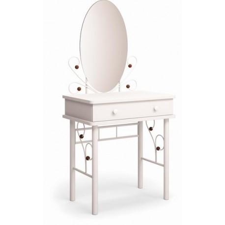 Дамский столик Милая белый / махагон