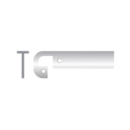 Профиль кухонный алюминиевый промежуточный 26 мм