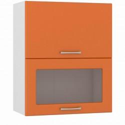 Шкаф навесной 600 горизонтальный 1 витрина 1 дверь Сандра