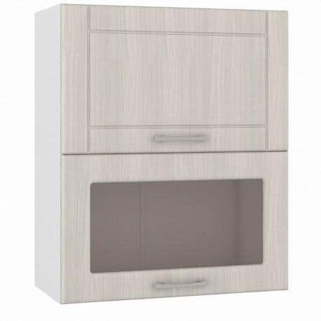 Шкаф навесной 600 горизонтальный 1 витрина 1 дверь Катрин