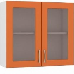 Шкаф навесной 800 2 витрины Сандра