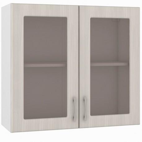 Шкаф навесной 800 2 витрины Катрин