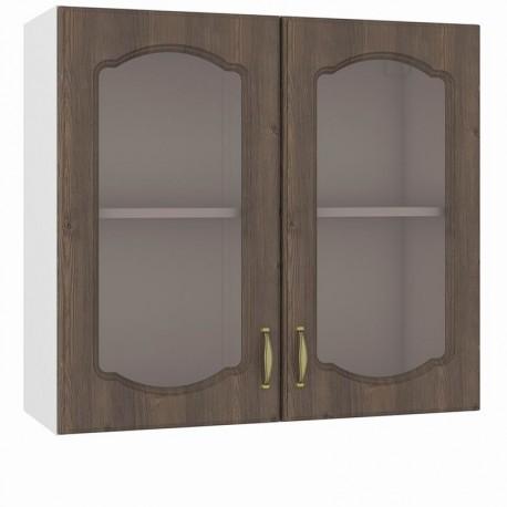 Шкаф навесной 800 2 витрины Сильвия