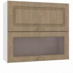Шкаф навесной 800 горизонтальный 1 витрина 1 дверь Эмили