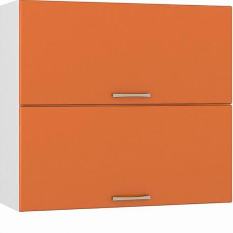 Шкаф навесной 800 горизонтальный 2 двери Сандра