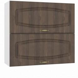 Шкаф навесной 800 горизонтальный 2 двери Сильвия