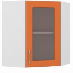 Шкаф навесной угловой витрина 600 Сандра