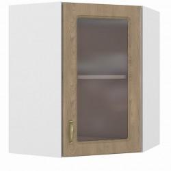 Шкаф навесной угловой витрина 600 Эмили