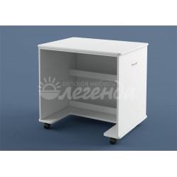 письменно-компьютерный стол белый Л-02 Легенда