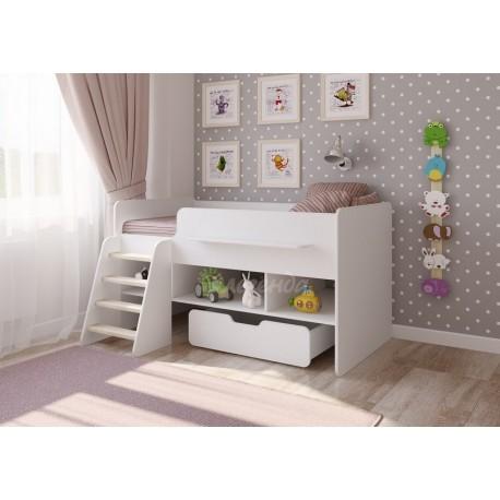 белая кровать-чердак Легенда-6