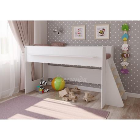 белая кровать-чердак Легенда-23.1