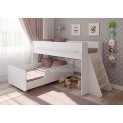 белая кровать двухъярусная Легенда-23.3