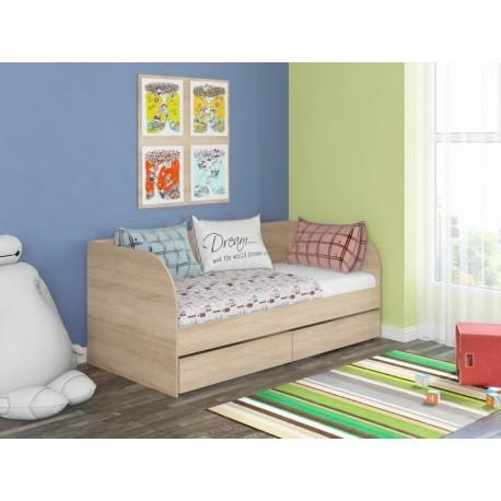 детская кровать Голден Кидс-7 корпус дуб сонома, фасад дуб сонома
