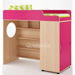 кровать-чердак Легенда-5 со шкафом-купе
