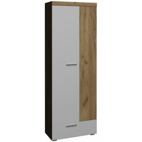 «BEST» №3 Шкаф для одежды и белья цвет дуб табачный / белый глянец