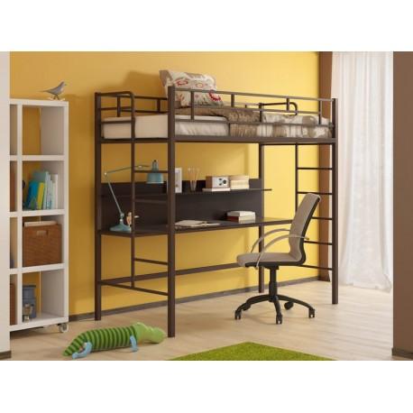 кровать-чердак Амстердам цвет коричневый