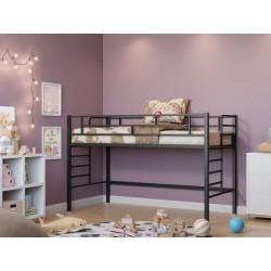 фото кровать-чердак Ассоль, цвет чёрный