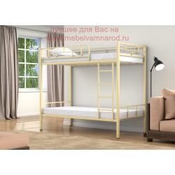 фото металлическая кровать двухъярусная Валенсия цвет бежевый