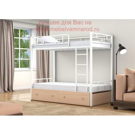 фото кровать двухъярусная Валенсия с ящиками