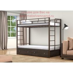 фото кровать двухъярусная Валенсия Твист с ящиками