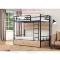 кровать двухъярусная Валенсия с полкой и ящиками
