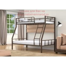 фото кровать двухъярусная Раута с полкой цвет коричневый - дуб молочный
