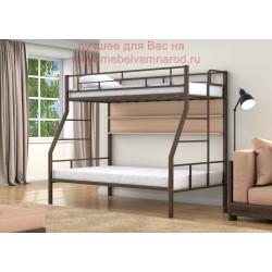 фото кровать двухъярусная Раута Твист с полкой цвет коричневый - дуб молочный