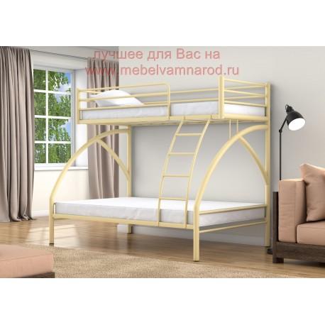 кровать двухъярусная Клео цвет слоновая кость