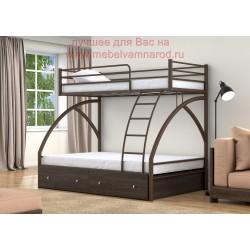 кровать двухъярусная Клео с ящиками