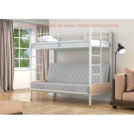 диван кровать двухъярусная Дакар-1 цвет белый - дуб молочный