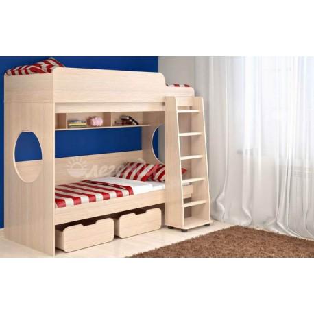 кровать двухъярусная Легенда-7 схема с размерами