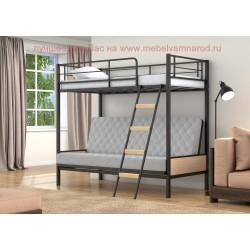 диван кровать двухъярусная Дакар-2 цвет черный - дуб молочный