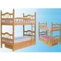 Кровати 2-х ярусные детские из дерева
