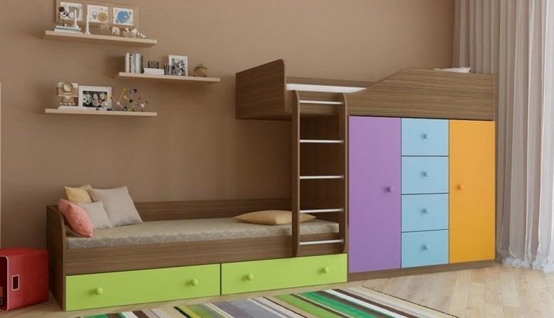 кровать чердак и двухъярусные кровати от фабрики РВ-мебель